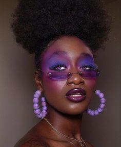 Makeup For Black Skin, Aesthetic Makeup, Black Girl Magic, Dark Skin, Halloween Face Makeup, Make Up, People, Hair, Inspiration