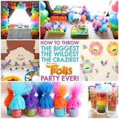 Image result for trolls birthday party