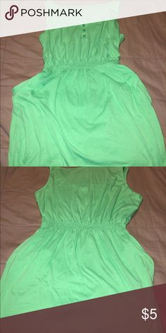 Tank dress with pockets Comfortable lime green summer dress. Elastic waist with pockets. Size 1x. From a pet free and smoke free home. Dresses