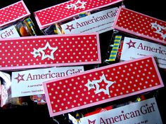 American Girl Doll Party Favors - Girls Survival Kit-ideas for Anna's 8th b-day