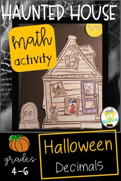 Haunted House Halloween Math is great practice of decimals skills while enjoying the spooky October theme!  Students will adore this math activity!  It makes for a great display for an open house or bulletin board!