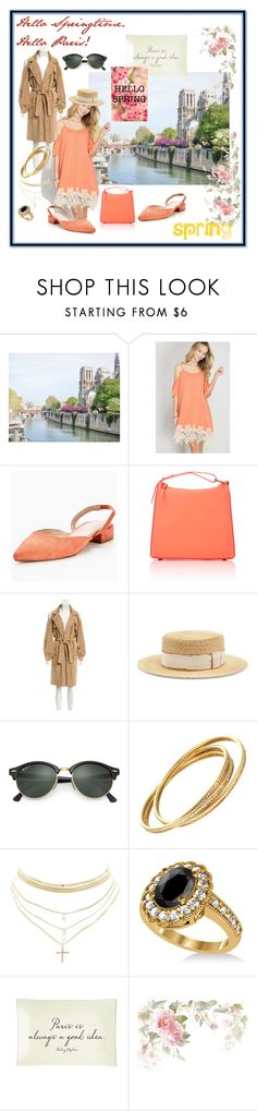 """""""hello springtime. hello paris!"""" by caroline-buster-brown ❤ liked on Polyvore featuring Carvela, 3.1 Phillip Lim, Fendi, Filù Hats, Ray-Ban, Cartier, Charlotte Russe, Allurez, Ben's Garden and HelloSpring"""