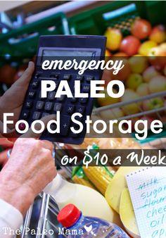 Emergency Paleo Food Storage on 10 a Week Best Paleo Recipes, Detox Recipes, Real Food Recipes, Detox Foods, Drink Recipes, Emergency Food Supply, Emergency Preparedness, Emergency Supplies, Hurricane Preparedness