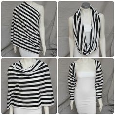 Ivory & Grey Stripe Breastfeeding Infinity Nursing Cover Up Scarf Infinity Convertible Nursing Scarf Cover Nursing Wrap Shawl Baby Diy Scarf, Scarf Top, Nursing Cover Scarf, Postpartum Fashion, Diy Clothes, Clothes For Women, How To Wear Scarves, Wearing Scarves, Breastfeeding Cover