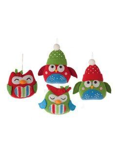 festive felt owls
