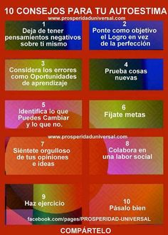 10 Consejos para tu autoestima - 10 Tips for your self esteem Positive Mind, Positive Quotes, Motivational Quotes, Spanish Classroom Activities, Coaching, Working On Me, Muscle Power, Ap Spanish, Spiritual Messages