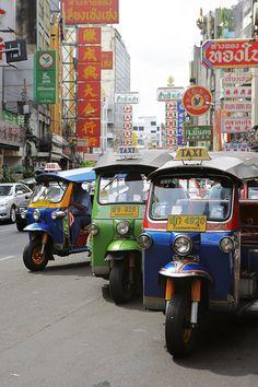 Bangkok, Thailand. Miss the tuk tuk rides, shopping, massage and the food! More
