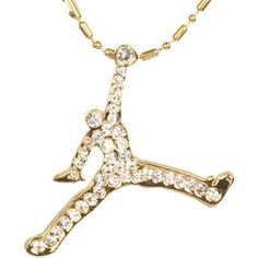 Gold Plated Hip Hop Rap Air Jordan Pendant Necklace | Amazon.com ($24) ❤ liked on Polyvore featuring jewelry, necklaces, pendant necklace, gold plated pendant necklace, gold plated necklace, gold plated jewelry and gold plated jewellery