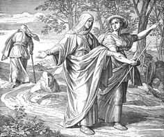 Bilder der Bibel - Naemi und Ruth - Julius Schnorr von Carolsfeld