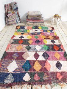 Image of Kilim Marocain chiné géometrique boucherouite kilim