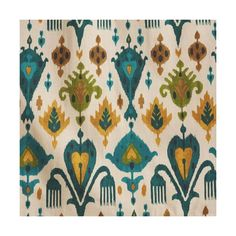 Cost Plus World Market Gold and Teal Ikat Aberdeen Cotton Curtains ($86) ❤ liked on Polyvore featuring home, home decor, window treatments, curtains, cost plus world market, ikat curtains, gold home decor, gold window treatments and teal blue home decor