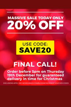20% Off TODAY - Plus Final Call for Christmas Delivery Limited Offer - Only Available Here  #christmasgifts #xmas #SecretSanta #Xmas2019 #car #autos #Automotive #cartips #autoparts #deals #HotDeals #discounts #offers #gadgets #tech #ChristmasCountdown