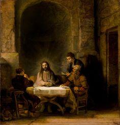 The Pilgrims at Emmaus, Rembrandt, 1648