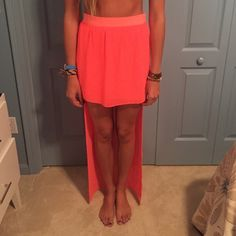 High low neon skirt! Bright and perfect for summer ! Dejavu Skirts High Low