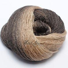 "Gradient Baby Camel / Silk Yarn ""Latte"""
