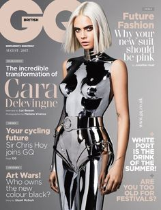 Cara Delevingne photographed by Mariano Vivanco for British GQ, August 2017