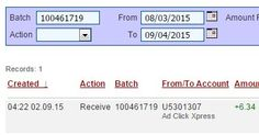 """""""Here is my Withdrawal Proof from AdClickXpress. I get paid daily and I can withdraw daily. Online income is possible with ACX, who is definitely paying - no scam here."""" http://www.adclickxpress.com/?r=tnx25htcpt&p=mx http://www.adclickxpress.com"""