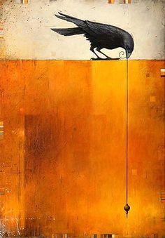 58 Trendy Ideas For Black Bird Fantasy Art Illustrations Crow Art, Raven Art, Bird Art, Flowers Wallpaper, Art Beauté, Crow Painting, Poster Photo, Art Watercolor, Crows Ravens