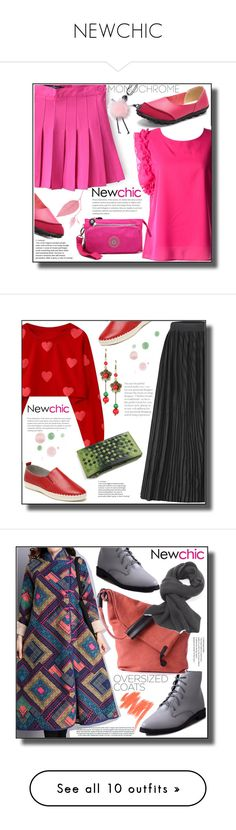 """""""NEWCHIC"""" by jelena-880 ❤ liked on Polyvore featuring monochrome, Lancôme, newchic, oversizedcoats, Nails Inc. and patentleather"""