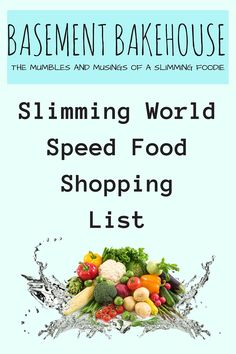 I am forever looking up which foods are speed and which aren't when I'm planning my meals, and it gets boring! So I decided to pull this list together using my book and the internet, for all of those people who like me forget to take their book with them, or perhaps are doing Slimming World from home and don't have all of the resources that you do in group.  This list covers speed foods specifically, not just free foods, and I'm sure there are some which aren't on there…it should give you a…