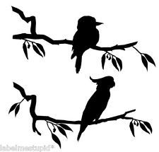 COCKATOO  KOOKABURRA Wall Sticker Australian Native Bird Animal Cocky Animal Silhouette, Silhouette Art, Silhouette Cameo Projects, Australisches Tattoo, Tattoo Outline, Australian Tattoo, Australian Animals, Christmas Decorations Australian, Firefly Art