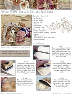 Project W Project SheetsPROJECT W016: HANDMADE PAPER