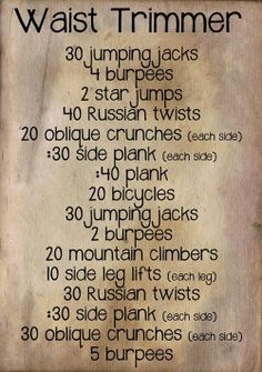 If you've been a little naughty in the kitchen during recent holidays and festivities this is the workout you need. Combine this with healthy eating to trim down that waist. You can add this routine to your workout once a week or add it to your current workouts to maximize results. Will you step up to the opportunity?