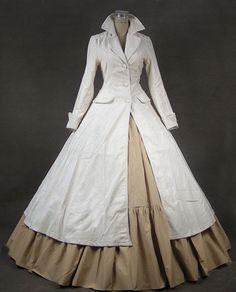 Renaissance Gothic Steampunk Punk Velvet Coat Dress Ball Gown C002 M
