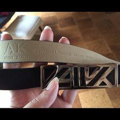 "Anne Klein suede Statement Belt Definitely sleek & sexy! Anne Klein designer belt with 'AK' initials on a silver buckle. Genuine suede leather. Brand new, no flaws. Measures 33-1/4"" at smallest hole and 39-1/4"" to widest hole. Anne Klein Accessories Belts"