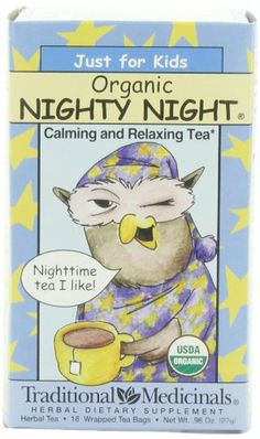 Traditional Medicinals Just for Kids Organic Nighty Night Herbal Tea,18-Count Wrapped Tea Bags (Pack of 6) - http://goodvibeorganics.com/traditional-medicinals-just-for-kids-organic-nighty-night-herbal-tea18-count-wrapped-tea-bags-pack-of-6/