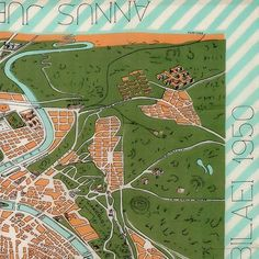 fornasettiofficialPianta di Roma dell'anno santo 1950 (Map of Rome in the Holy Year 1950), silk foulard produced for KLM Airlines, 1950. #Fornasetti2016/03/20 19:37:49