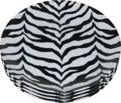 The Emporium Ltd Porcelain Zebra Plates