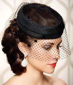 Hot Selling Black Net Birdcage Veils Face Veiled Wedding Hair Accessories  One Tier Short Tulle Cheap Birdcage Veil Bridal Headpieces SKU323 ada112f613a