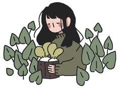 New Plants Drawing Doodles Simple 40 Ideas - Çizimler - Pasta Rezepte Cartoon Kunst, Anime Kunst, Anime Art, Cute Art Styles, Cartoon Art Styles, Art And Illustration, Art Illustrations, Wallpaper Animé, Pastel Wallpaper