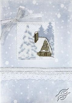 Winter House Card - Cross Stitch Kits by Luca-S - SP033
