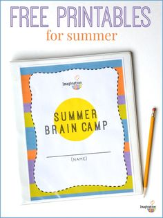 I love this!!! Summer Learning Printables with activities for reading, writing, & math plus reward coupons.