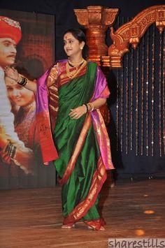 Green Nauvari Saree