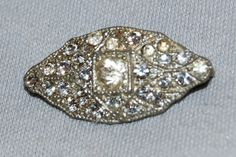 Vintage / Antique / C Clasp / Rhinestone / by AmericanHomestead, $7.50