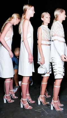 Backstage at Alexander Wang S/S 2013