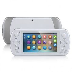 JXD S5800 Game Tablet PC use 5 inch screen, 1GB RAM + 8GB ROM with MTK6582 Quad core 1.3GHz professor, has 2MP front and 8MP back dual camera, and installed Android 4.2 OS.
