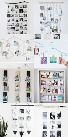 39 Creative DIY Photo Frames Make Your Home Unique Diy decor for home, home deco. - 39 Creative DIY Photo Frames Make Your Home Unique Diy decor for home, home decor,DIY photo frames, - Diy Décoration, Easy Diy, Decoration Photo, Photo Wall Decor, Diy Wall Decor, Home Decor, Cute Room Decor, Diy Bedroom Decor For Teens, Teenage Room Decor