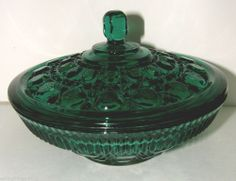 """Windsor """"Teal"""" Covered Candy Dish"""