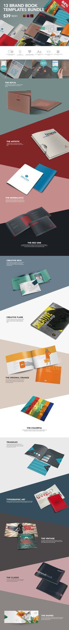 13 Brand Guidelines Templates Bundle by ZippyPixels on Creative Market