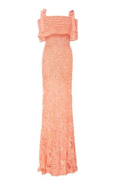 Elie Saab  Off The Shoulder Sequin Gown