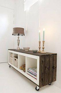 Un mueble fabricado a partir de palets, esto es otro nivel!!! #reciclaje #DIY