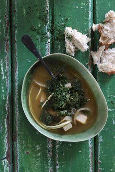 Matcha Green Tea and Kale Soup | Crush 54