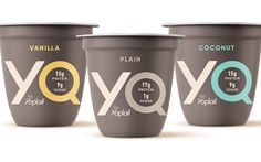 Yoplait introduces high-protein, low-sugar yogurt line called YQ Sugar Packaging, Yogurt Packaging, Dairy Packaging, Ice Cream Packaging, Food Packaging Design, Pure Protein, High Protein, Low Sugar Yogurt, Probiotic Yogurt
