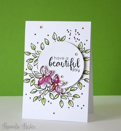 Altenew Doodle blooms + Floral Frame card by Hannelie Card Making Inspiration, Making Ideas, 2017 Inspiration, Pretty Cards, Cute Cards, Penny Black, 3d Cards, Your Cards, Altenew Cards