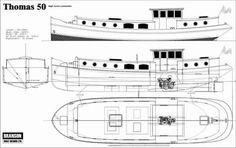 Thomas 50/57/66ft Luxemotor Dutch Barge | Branson Boat Design Dutch Barges