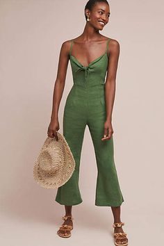 Faithfull Presley Cropped Linen Jumpsuit #ad #AnthroFave #AnthroRegistry Anthropologie #Anthropologie #musthave #styleinspiration  #ootd #newarrivals #outfitideas #wishlist #bohostyle #bohooutfit #bohemian